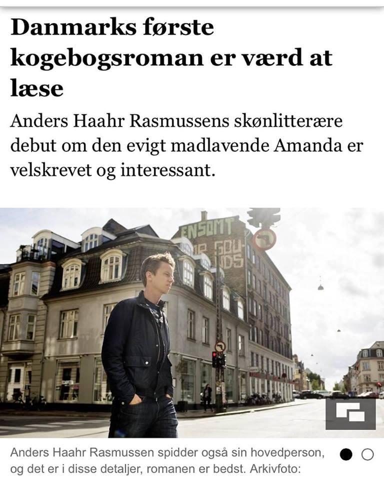 Anders haahr Rasmussen, det var ikke planen at købe kålroer, kogebogsroman, anmeldelser, Jyllandsposten