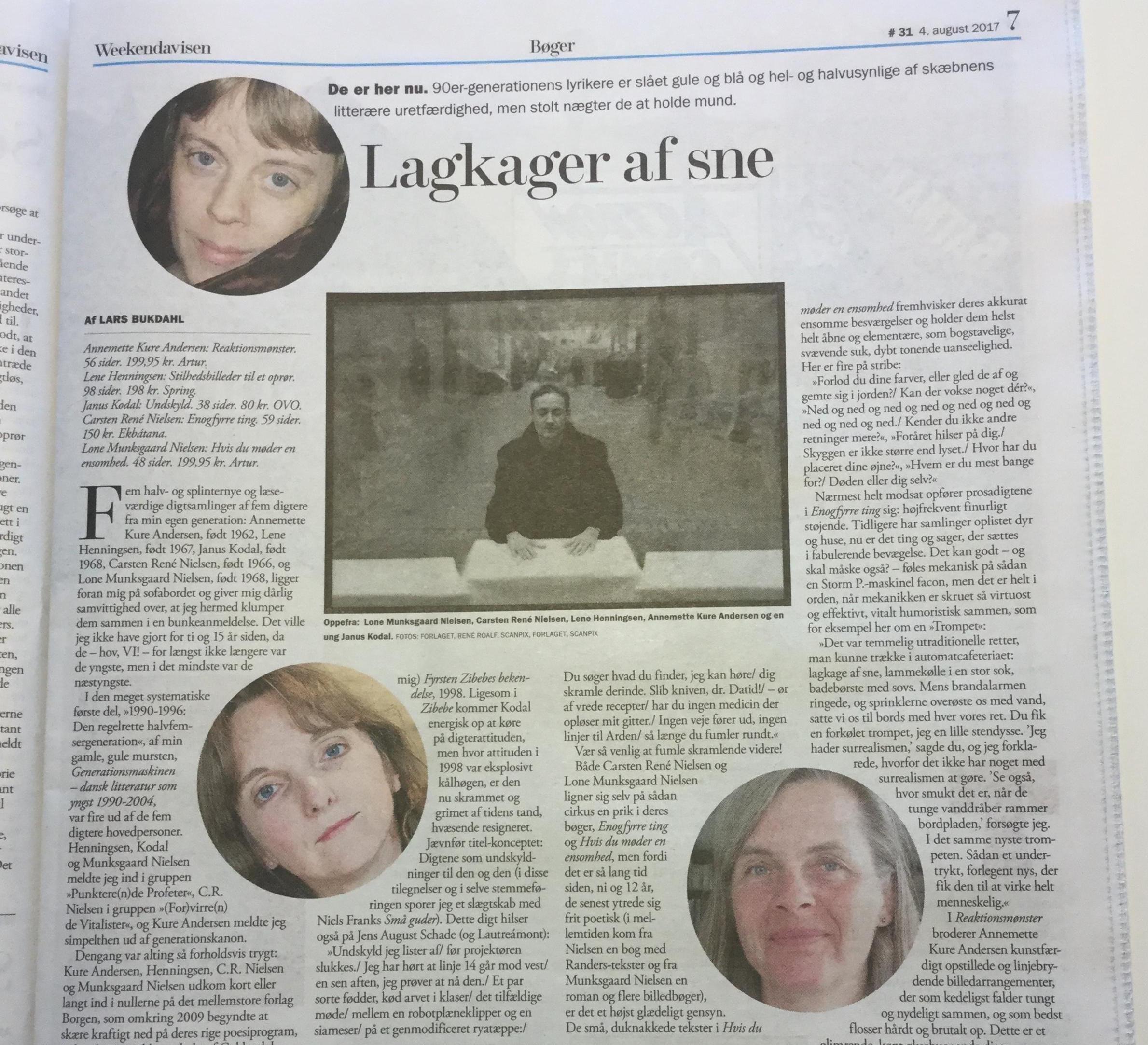 Weekendavisen, lars Bukdahl, Carsten Rene Nielsen, Enogfyrreting, anmeldelser