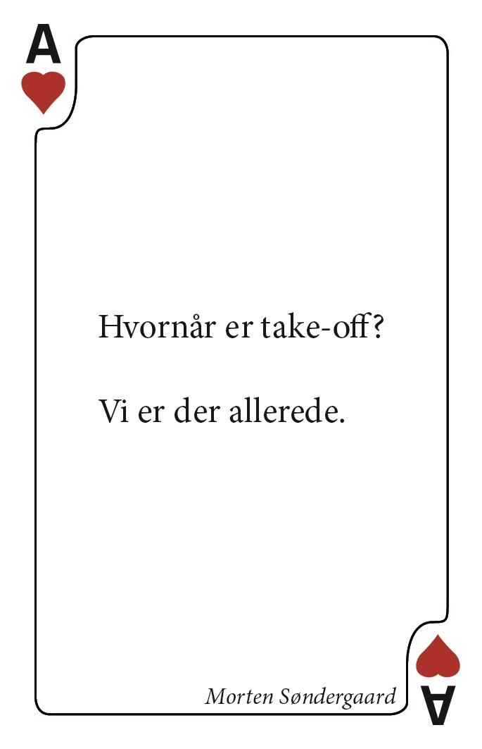 Morten Søndergaard, hjerter es, spillekort med digte