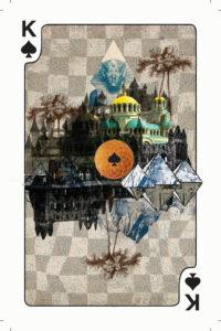 Spillekort med digte, spar konge